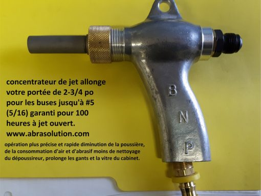 Concentrateur de jet allonge